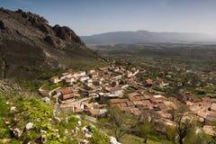 Poza De Los angeles Sal, Lasu Merindades Burgos północ, Castilla y Leon fotografia stock