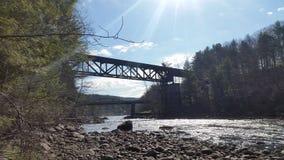 poza mosta odległości horyzontu linia kolejowa kolejowy rozciąganie tropi Zdjęcia Royalty Free