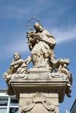 POZAN, POLAND/EUROPE - 9月16日:圣约翰Nepomuc雕象  库存照片