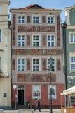 POZAN, POLAND/EUROPE - 16 DE SEPTIEMBRE: Casa roja en Poznán Polonia imagen de archivo libre de regalías