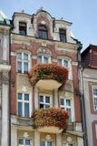 POZAN, POLAND/EUROPE - 16 DE SEPTIEMBRE: Casa roja en Poznán Polonia imagenes de archivo