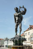 POZAN, POLAND/EUROPE - 16 DE SEPTIEMBRE: Fuente de Apolo en Pozn fotos de archivo