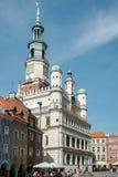 POZAN, POLAND/EUROPE - 16 DE SETEMBRO: Cidade Hall Clock Tower em P foto de stock royalty free