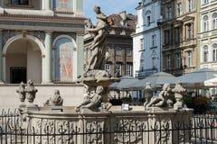 POZAN, POLAND/EUROPE - 16 DE SETEMBRO: Fonte de Proserpina dentro fotos de stock