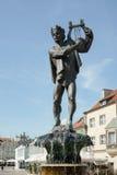 POZAN, POLAND/EUROPE - SEPTEMBER 16 : Fountain of Apollo in Poznan Poland on September 16, 2014, Unidentified people. stock photos