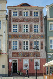 POZAN, POLAND/EUROPE - SEPTEMBER 16 : Red house in Poznan Poland. On September 16, 2014. Unidentified man royalty free stock image