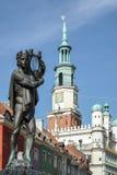 POZAN POLAND/EUROPE - SEPTEMBER 16: Springbrunn av Apollo i Pozn royaltyfri fotografi