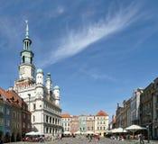 POZAN, POLAND/EUROPE - 16. SEPTEMBER: Stadt Hall Clock Tower in P stockbilder