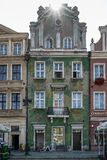 POZAN, POLAND/EUROPE - 16 SEPTEMBRE : Maison verte à Poznan Pola photo stock