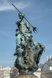 POZAN, POLAND/EUROPE - 16 SETTEMBRE: Fontana di Nettuno in Poz immagine stock
