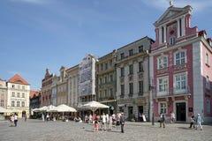 POZAN, POLAND/EUROPE - 16 SETTEMBRE: Vecchio quadrato del mercato in Pozna Immagine Stock