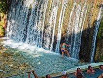Pozar Gorącej wiosny Termiczni skąpania, Macedonia, Grecja Zdjęcia Royalty Free