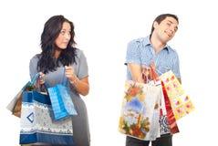 pozazdroszczenia mężczyzna zakupów kobieta Zdjęcie Stock