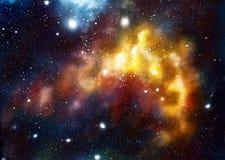 Pozaziemska przestrzeń i gwiazdy, barwimy pozaziemskiego abstrakcjonistycznego tło Oryginalny ręka obraz royalty ilustracja