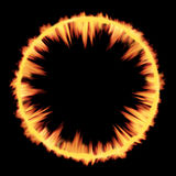 Pozaziemska wybuch fala uderzeniowej ogienia tekstura Fotografia Stock
