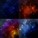 Pozaziemski galaktyki tło z mgławicą royalty ilustracja