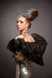 pozaziemski smokingowy wyrażeniowy mody dziewczyny włosy Obrazy Royalty Free