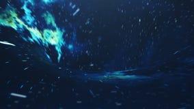 Pozaziemski wormhole, podróży kosmicznej pojęcie, lejkowaty tunel który może łączyć jeden wszechświat z inny 3D animacja royalty ilustracja