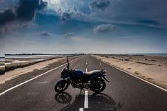 Pozbywać się motocykl miłości obraz royalty free