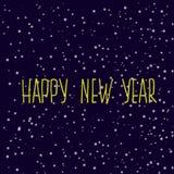 2007 pozdrowienia karty szczęśliwych nowego roku Śnieżny wieczór niebo ilustracja wektor