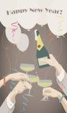 2007 pozdrowienia karty szczęśliwych nowego roku Zdjęcia Stock