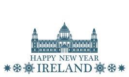 2007 pozdrowienia karty szczęśliwych nowego roku Irlandia royalty ilustracja