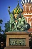 pozharsky röd fyrkant för mininmonumentmosco till arkivbild