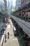poziomów eskalatory w Hong Kong Zdjęcie Royalty Free