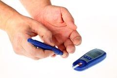 poziom glukozy badanie krwi, Fotografia Stock