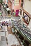 pozioma eskalator w Hong Kong Zdjęcia Stock