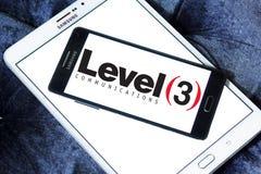 Pozioma 3 komunikacj firmy logo Zdjęcie Royalty Free