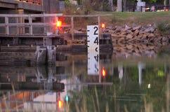 Pozioma wody wskaźnik Zdjęcie Royalty Free