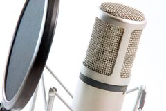 poziomy filtra mikrofonu Obrazy Royalty Free