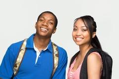 poziomy notesy studentów nosić Obrazy Royalty Free