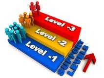 poziomy wspierają wielopoziomowego ilustracja wektor