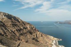 Poziomy ziemia Santorini obraz stock