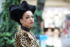 POZNÁN - 26 DE ABRIL: Mire el foro Poznán 2014 de la moda de la belleza Imagenes de archivo