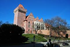 Poznán el castillo real foto de archivo