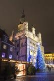 Poznań market during  holidays Stock Image