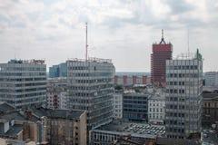 "PoznaÅ从屋顶的""全景 免版税库存图片"