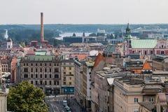 "PoznaÅ从屋顶的""全景 免版税库存照片"