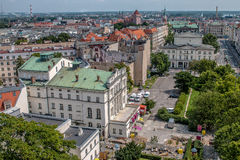 """PoznaÅ """"panorama från taket Fotografering för Bildbyråer"""