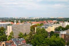 """PoznaÅ """"panorama från taket Arkivbilder"""