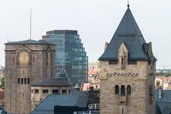 """PoznaÅ """"panorama från taket Royaltyfria Bilder"""
