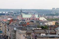 """PoznaÅ """"panorama från taket Royaltyfri Bild"""