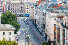 """PoznaÅ """"panorama från taket Royaltyfri Foto"""