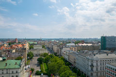 """PoznaÅ """"panorama från taket Arkivbild"""