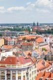 Poznański, Polska, Czerwiec - 28, 2016: Widok na starych lub nowożytnych budynkach w grodzki Poznańskim Obrazy Royalty Free