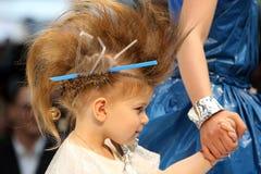 POZNAN - 18-ОЕ АПРЕЛЯ: Стили причёсок выставки Eco дружелюбные от пользы  Стоковое Фото