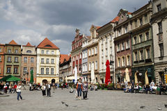 Poznan. MAY 14: beautiful old town of , famous colorful tenements on May 14, 2011 in , Poland Stock Photos